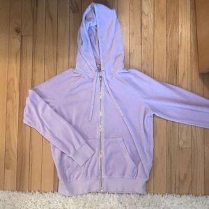 Juicy Couture Light Purple Velour Zip Up Jacket